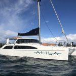 Boat hire Sydney Alila catamaran